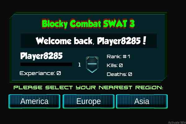Play Blocky Combat Swat 3