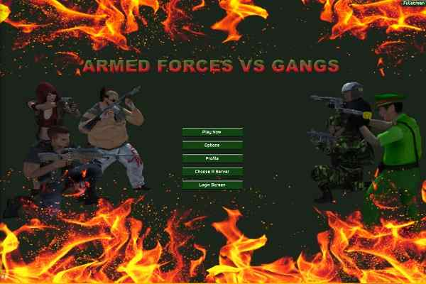 Play Armed Forces vs Gangs