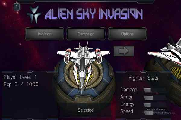Play Alien Sky Invasion