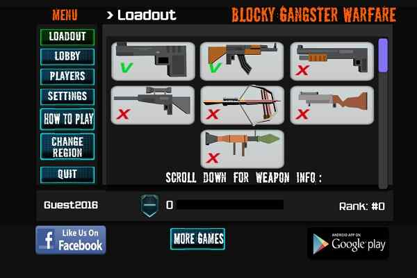 Play Blocky Gangster Warfare