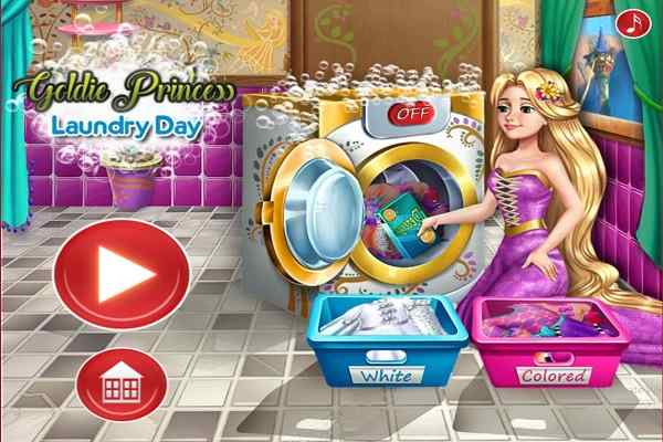 Play Goldie Princess Laundry Day