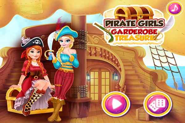 Play Pirate Girls Garderobe Treasure