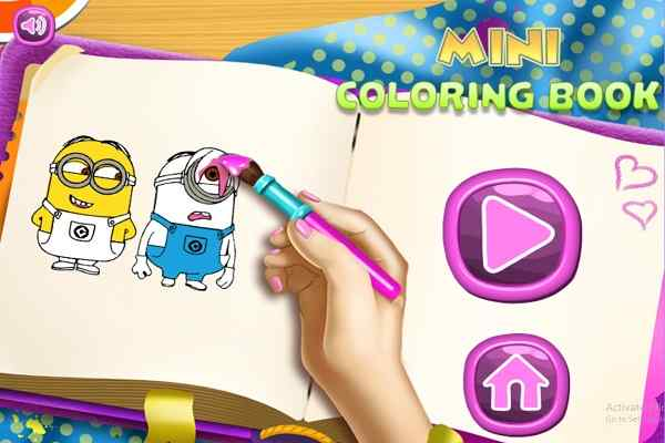 Play Mini Coloring Book