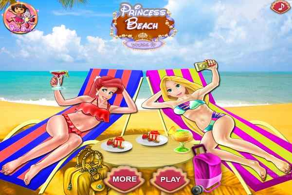 Play Princesses Beach Day
