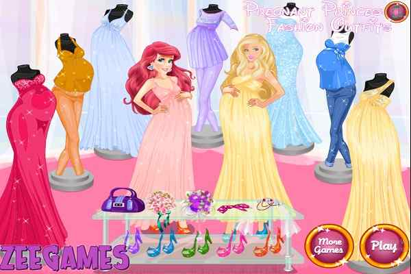Play Pregnant Princesses Fashion Outfits
