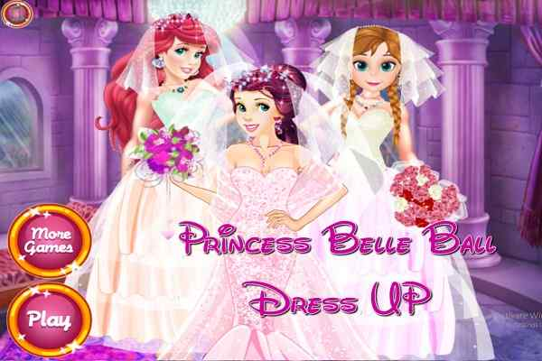Play Princess Belle Dress Up