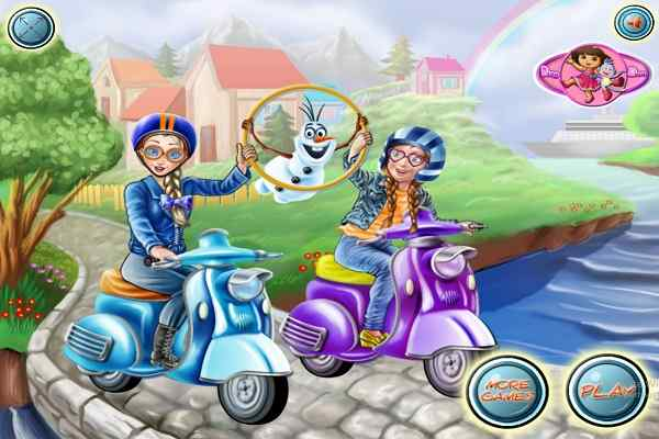 Play Princess Scooter Ride