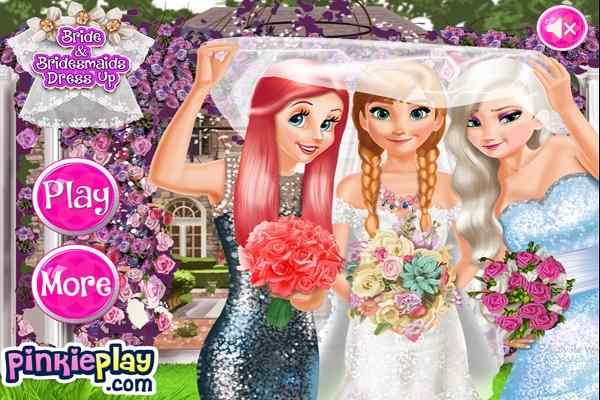 Play Bride and Bridesmaides Dress up