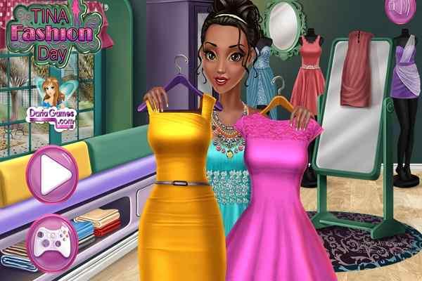 Tina Fashion Day Dressing Games Play Online Free Atmegame Com