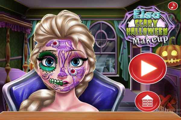 Play Elsa Scary Halloween Makeup