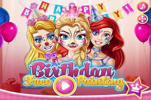 Birthday Face Painting, Make Up Games - Play Online Free ...
