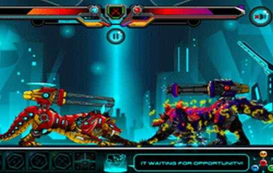 Play Battle Robot Wolf Age
