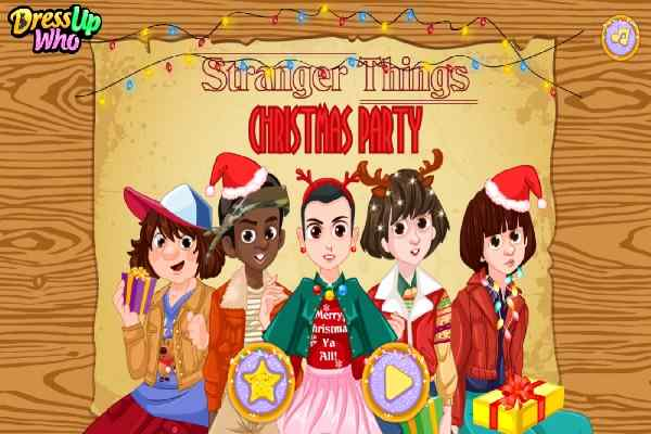 A Stranger Things Christmas.Stranger Things Christmas Party Dressing Games Play