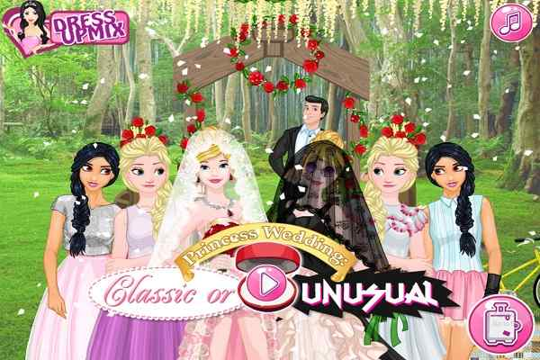 Princess Wedding Classic Or Unusual Play Free Online Games