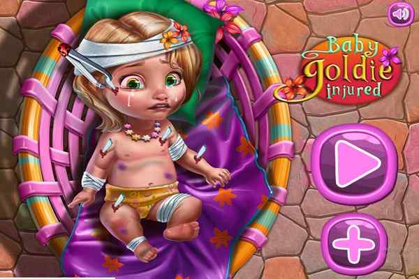 Play Baby Goldie Injured