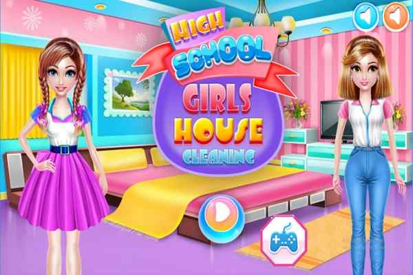 Play Highschool Girls House Cleaning