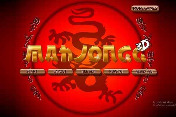 играть онлайн маджонг 3д