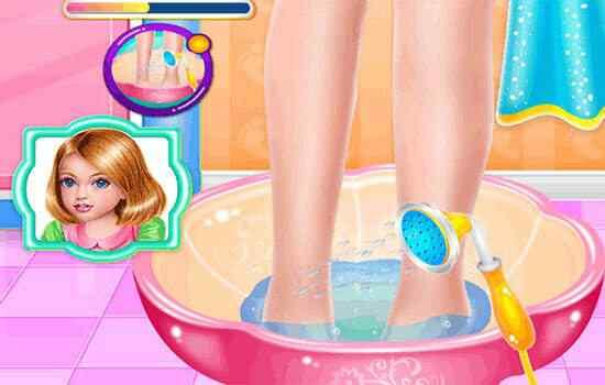 Play Lena's Foot Treatment Care