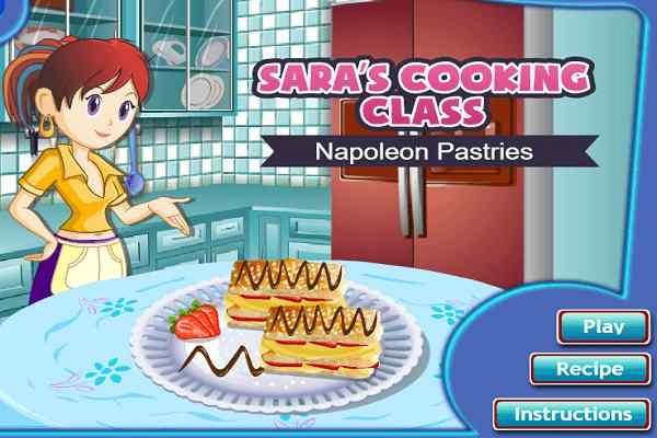 Play Sara Napoleon Pastries