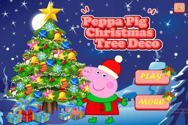 Peppa Pig Christmas.Peppa Pig Christmas Tree Deco Decoration Games Play