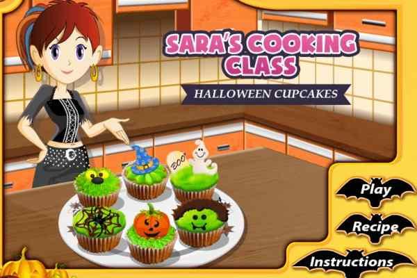 Play Sara Halloween Cupcakes