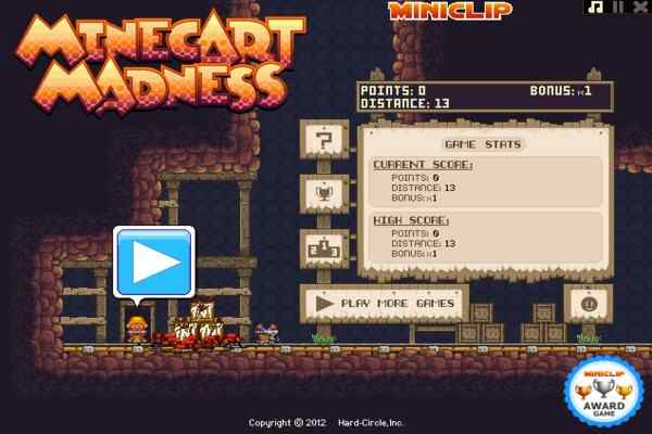 Play Minecart Madness