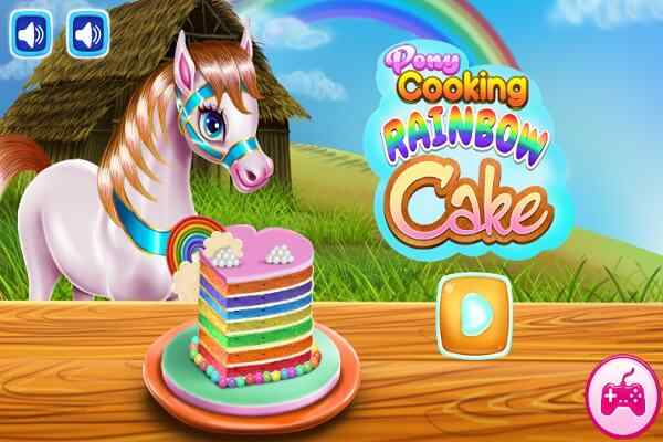 Play Pony Cooking Rainbow Cake