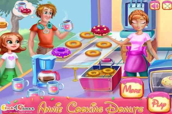 Play Annie Cooking Donuts