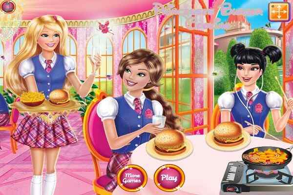 Play Princesses Burger Cooking