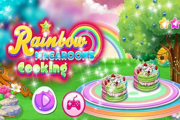 Play Rainbow Macaroons Cooking