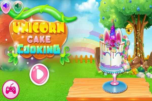 Play Unicorn Cake Cooking