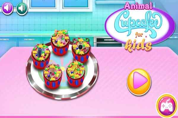 Play Animal Cupcakes for Kids