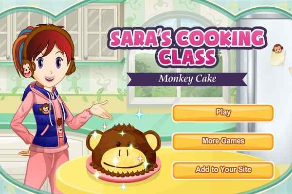 Play Monkey Cake Saras Cooking Class