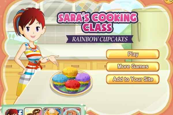 Play Rainbow Muffins Saras Cooking Class