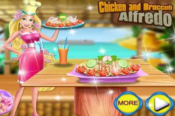 Play Rapunzel Chicken And Broccoli Alfredo