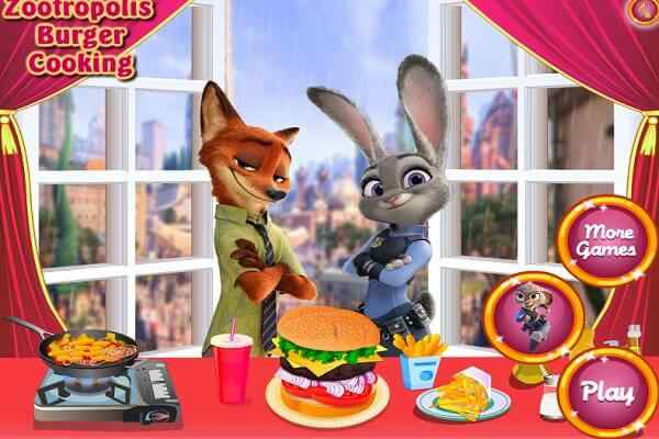 Play Zootropolis Burger Cooking