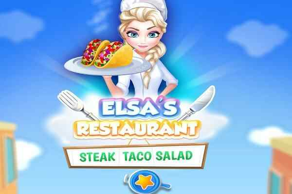 Play Elsa Restaurant Steak Taco Salad