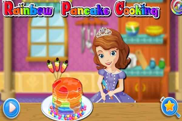 Play Rainbow Pancake Cooking