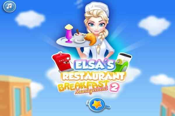 Play Elsa Restaurant Breakfast Management 2