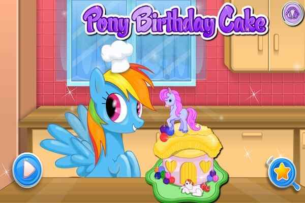 Play Pony Birthday Cake