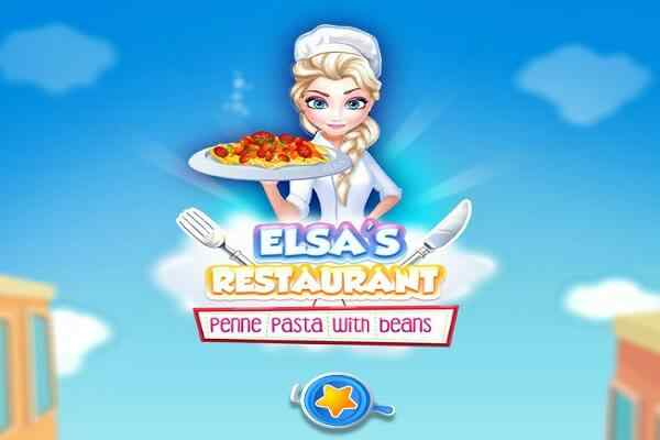Play Elsa Restaurant Penne Pasta with Beans