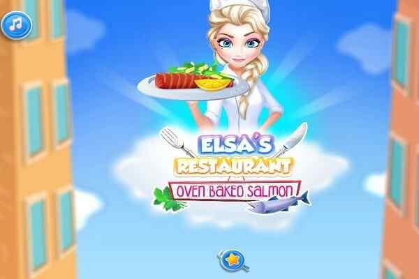 Play Elsa Restaurant Oven Baked Salmon