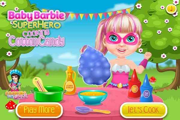 Play Baby Barbie cooking Cotton Candy
