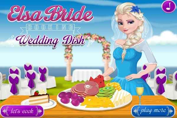 Play Elsa Bride cooking Wedding Dish