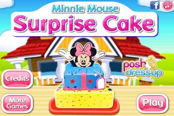Play Minnie Mouse Surprise Cake
