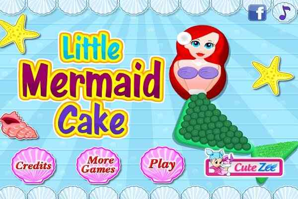 Play Little Mermaid Cake