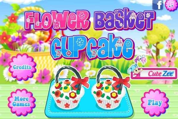 Play Flower Basket Cupcake