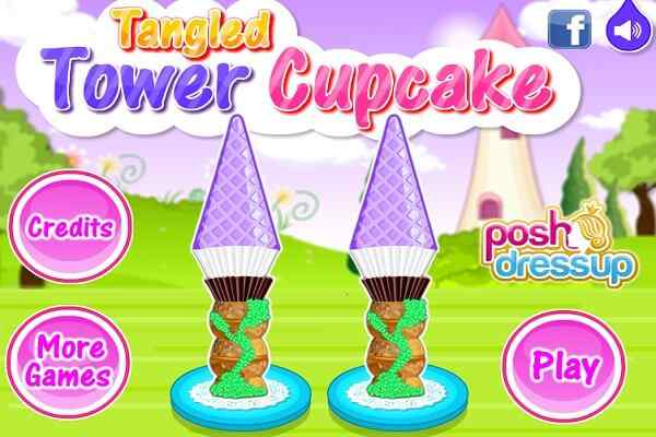 Play Tangled Tower Cupcake