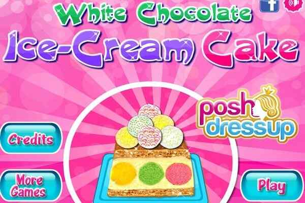 Play White Chocolate Ice Cream Cake