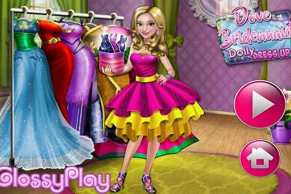 Play Dove Bridesmaid Dolly Dress Up